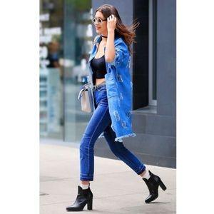 FRAME Thrasher Le High Straight Leg cropped jeans